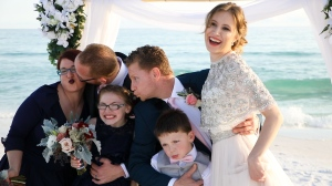 Small Beach Wedding, Family Photo