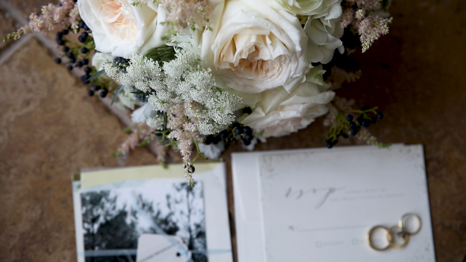 wedding flowers and invitations
