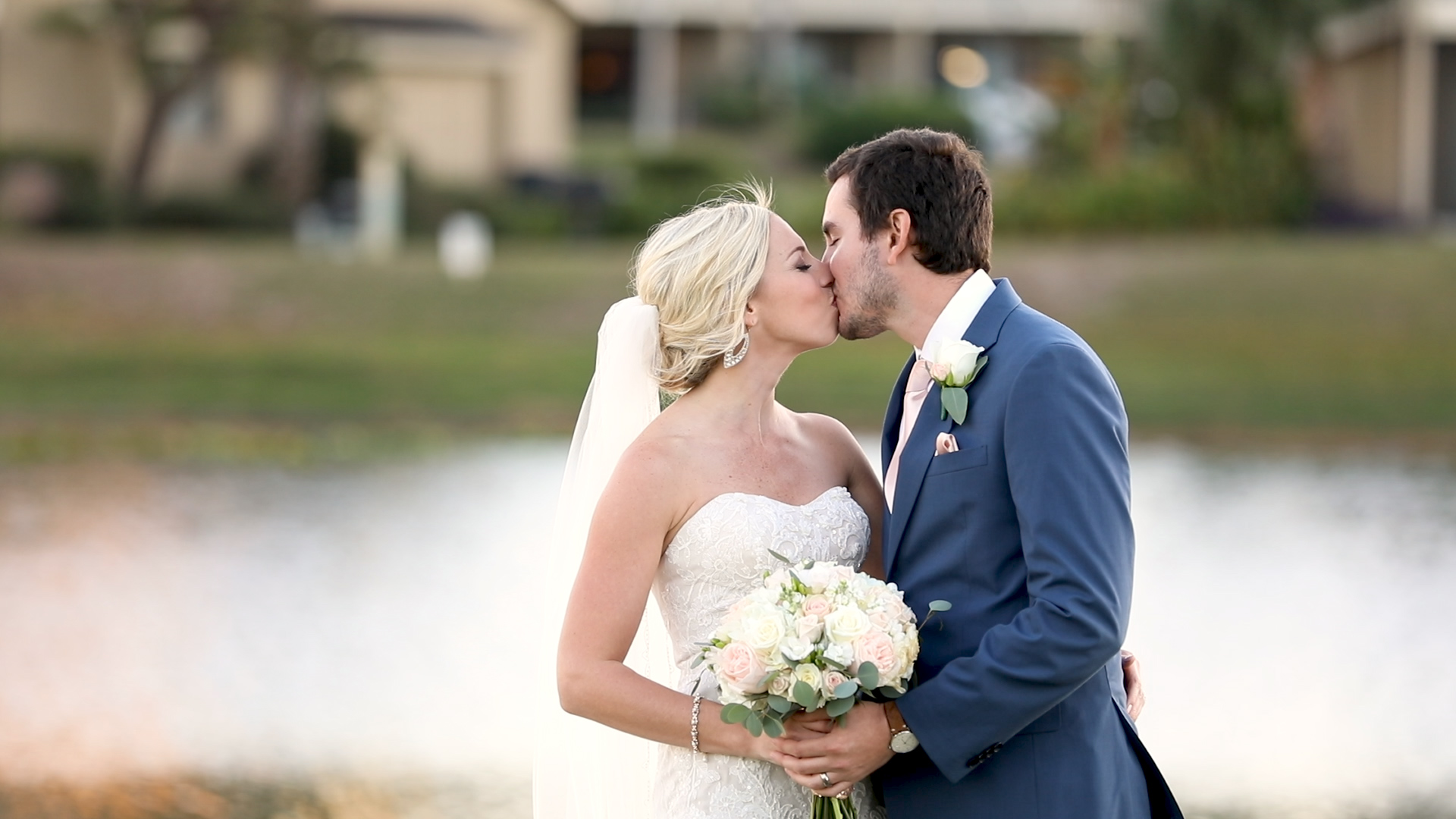 bride and groom portrait at Seascape Resort in Destin, Florida