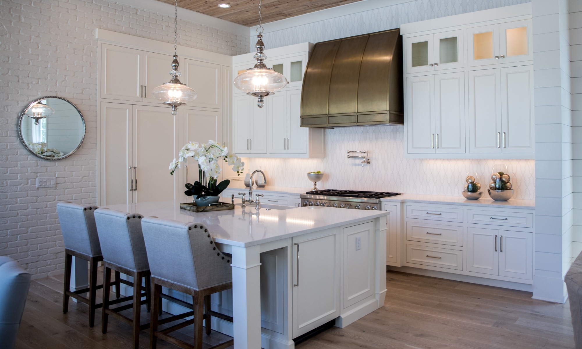 Kitchen interior design in 30A House