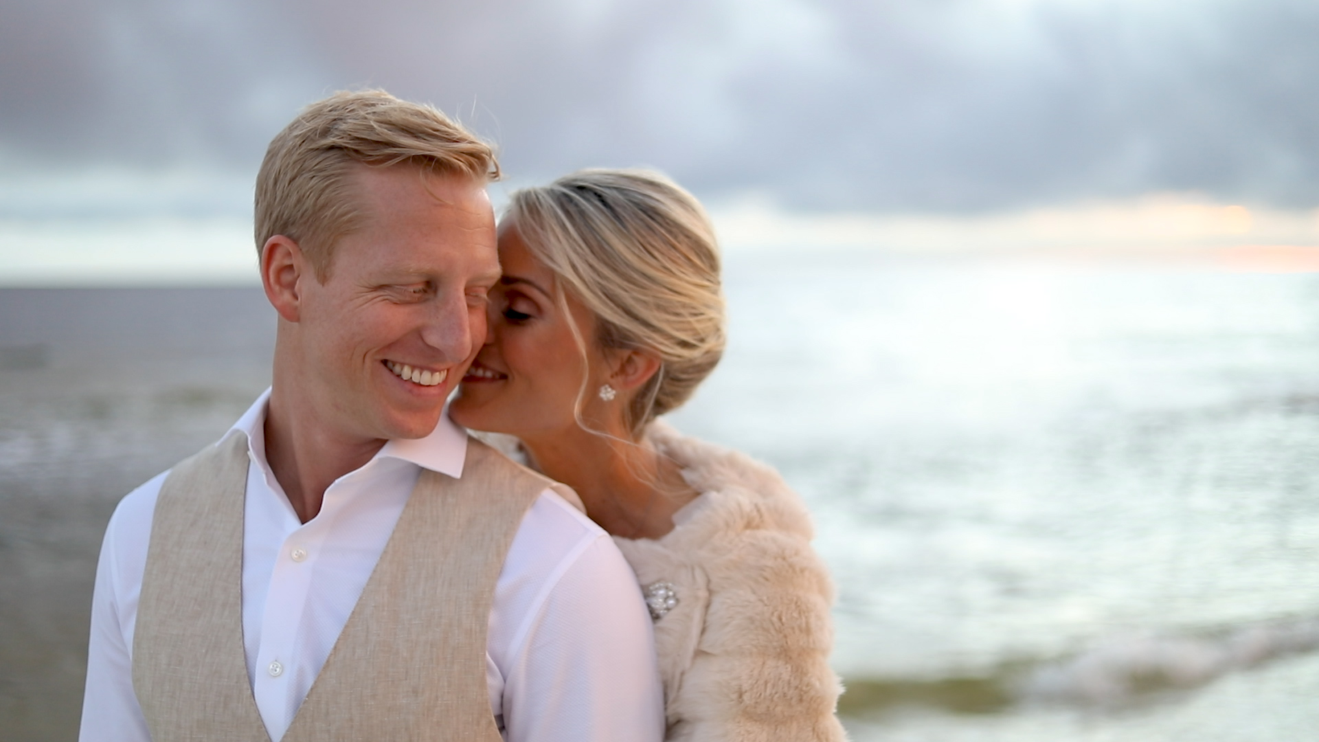bride and groom wedding portraits on florida beaches