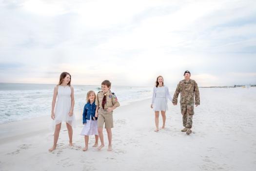 military family beach photo in Fort Walton Beach, Florida