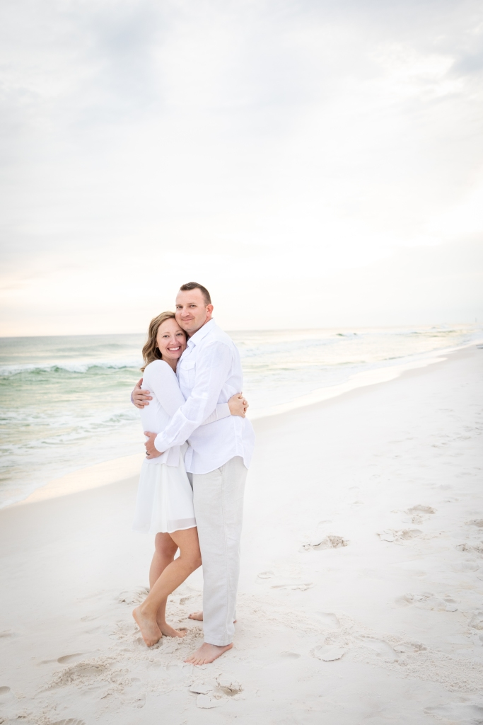 husband and wife portrait on Okaloosa Island beaches