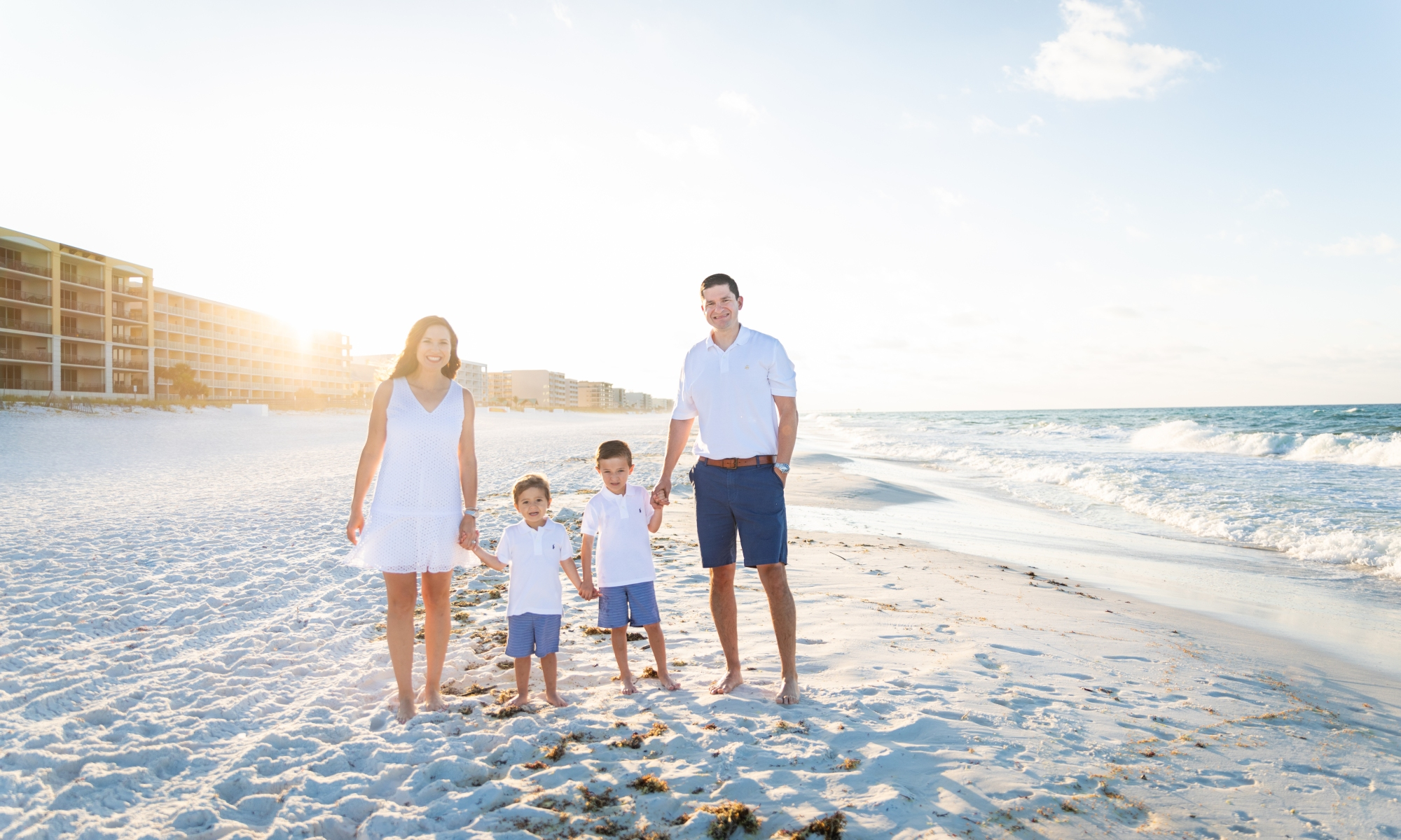family portrait on Okaloosa Island