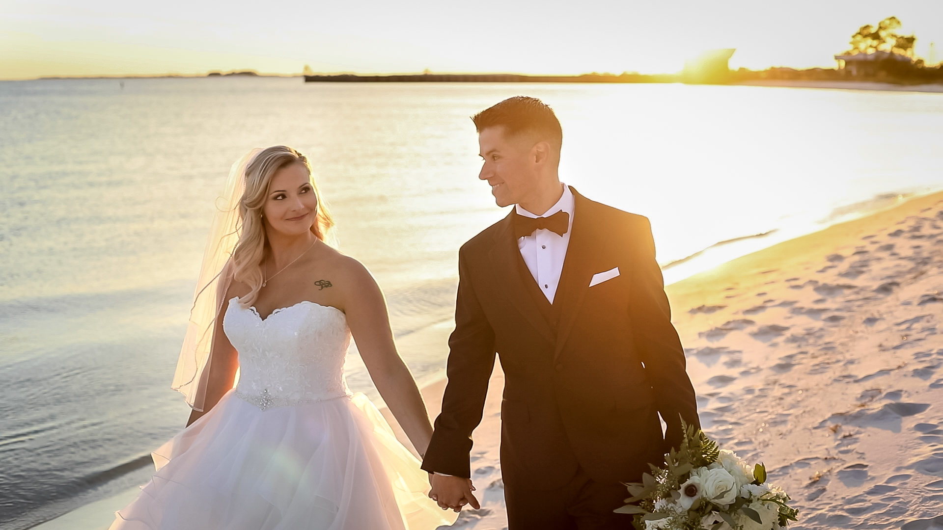 bride and groom in Pensacola